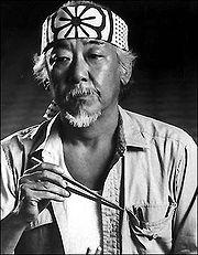 """Noriyuki """"Pat"""" Morita as """"Mr. Miyagi""""."""