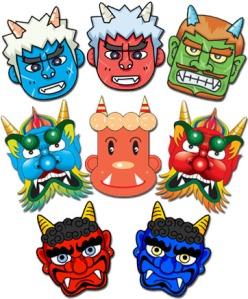 Setsubun demon masks.
