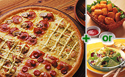 "At ""Dominos Japan"", you can get a ""Quattro"" pizza and a salad or potatoes for about US$25."