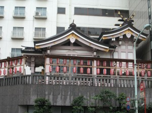 Not 泉岳寺...but outside the subway station.