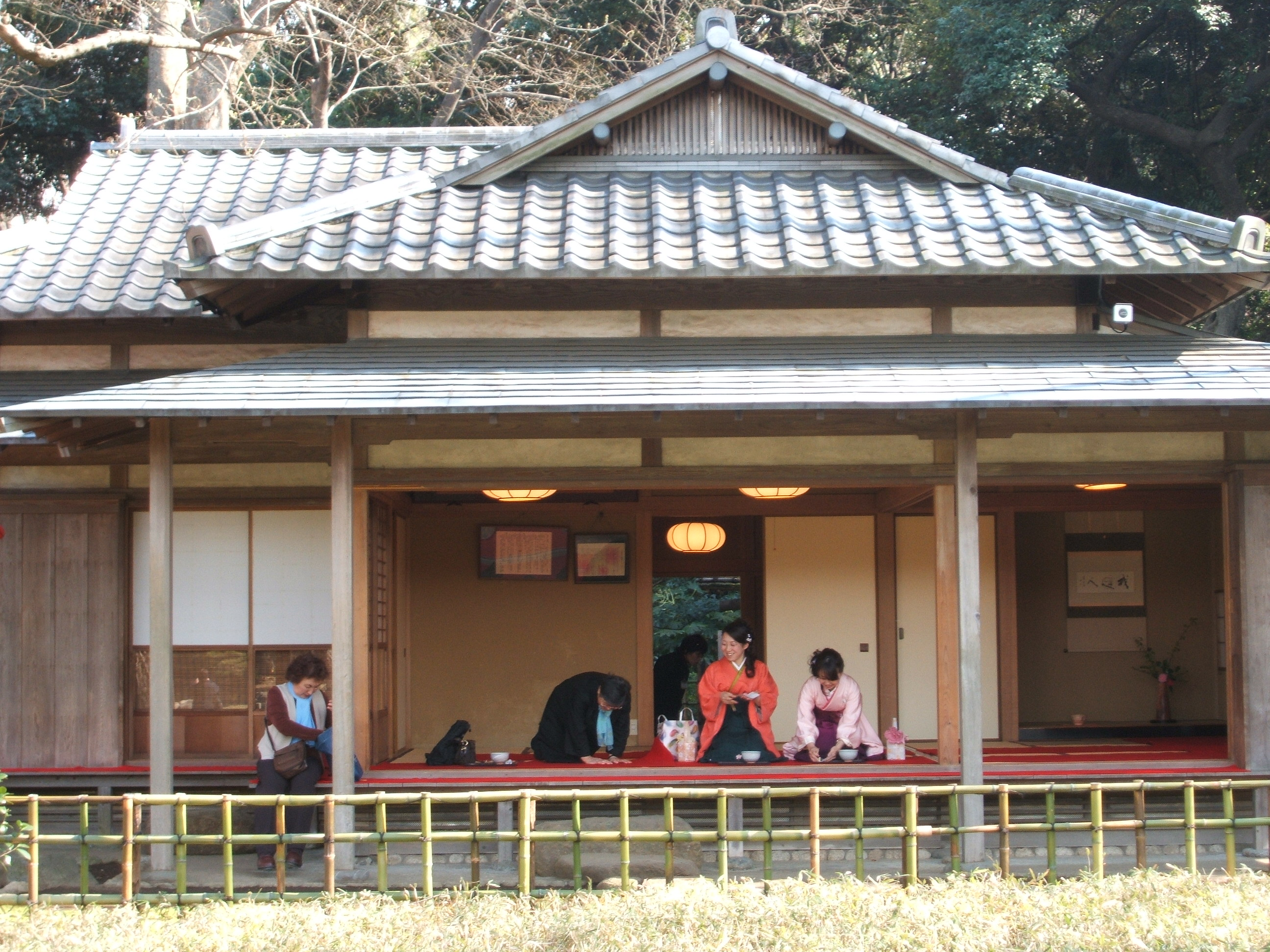 Japanese traditional tea house