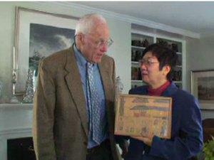 Frank Hobbs returning Matsuji Takegawa's belongings to his daughter Yuko.