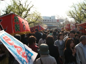 The crowd at Ueno.