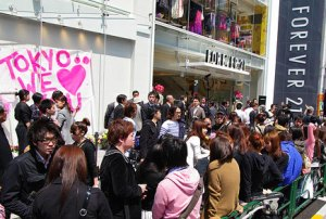 "Grand Opening of ""Forever 21"" in Tokyo."