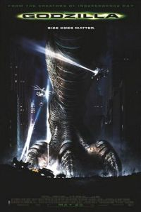 "Poster for the US version of ""Godzilla"", 1998."