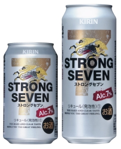 "Kirin ""Strong Seven"" Beer with 7% alcohol."