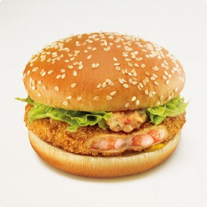「えびフィレオ」 (Shrimp Filet-o Burger)