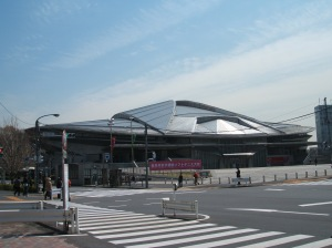 「東京体育館」 (Tokyo Metropolitan Gym) was used in '54 World Wrestling Championship and '64 Olympics