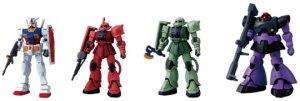 The Gundam figures