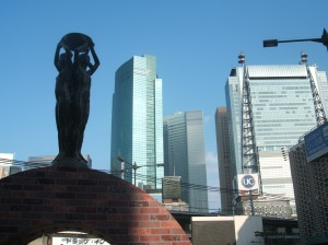In front of 新橋駅 (Shinbashi Station)