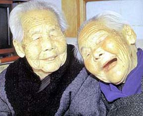 "「キンさん、ギンさん」 (""<em>Kin-san, Gin-san</em>""). (Their names mean ""Gold"" and ""Silver"")"