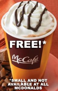 McDonalds U.S. free coffee campaign ad.