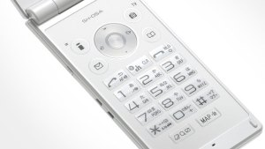 "The key-pad of a Japanese ""DoCoMo"" cell-phone."