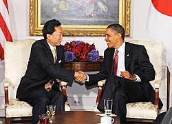 Japan Prime Minister Hatoyama and U.S. President Obama