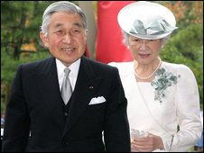 The Japanese Emperor & Empress at the ceremony to mark the Emperor's 20th anniversary on the throne.