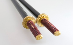 Chopsticks based on the samurai Maeda Keiji's sword.
