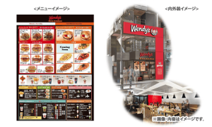 """Wendy's First Kitchen"" menu has unique menu items made from items from Wendy's and First Kitchen together."