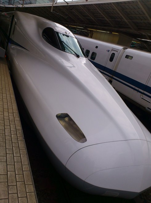 We took this 新幹線 (bullet train) to Kyoto from Tokyo on May 4th.