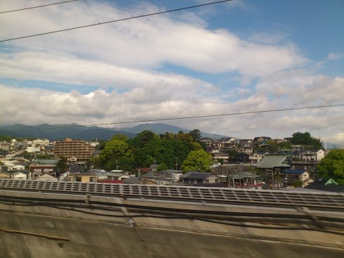 View from the bullet train window.