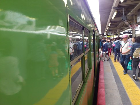 Even the local trains were a bit different from Tokyo's.