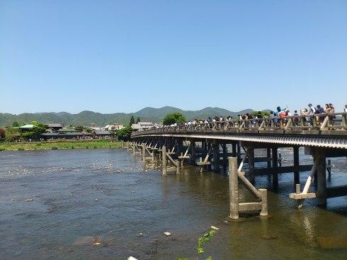 The famous 嵐山公園 (Arashi-yama Koen) in Kyoto.