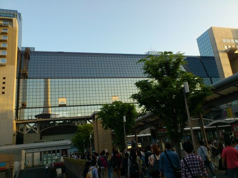 6PM on May 5th, 2015 at Kyoto Station to take the bullet train back home in Tokyo.