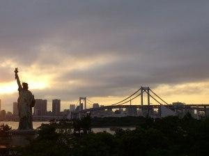 France gave Japan a 自由の女神 (Statue of Liberty) too.