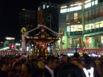 In the evening is when the Kawagoe Festival becomes more lively.