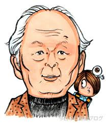 Shigeru Mizuki (1922 Mar 8 - 2015 Nov 30) with two of his most famous characters.